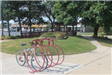 Bike Rack and Landscaped Area