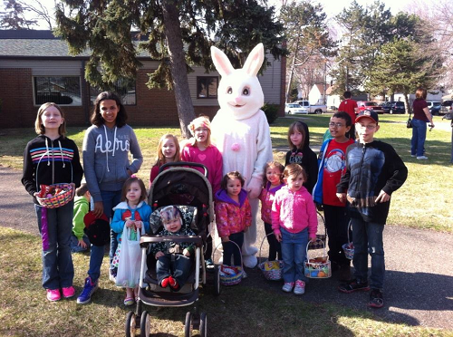 Group of Children with the Easter Bunny