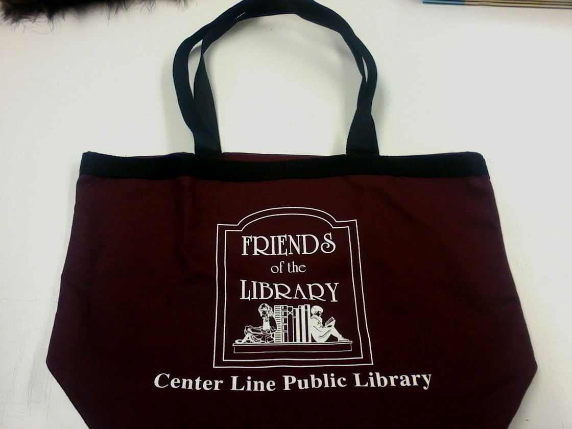 Friends of the Library Burgundy Tote Bag